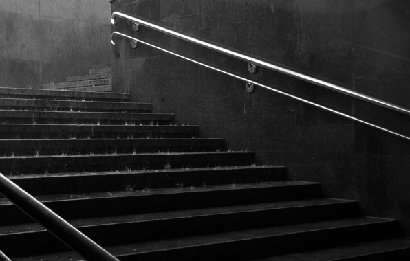 Picture water, drops, city, rain, mood, wall, the descent, ladder, handrails, stairs, steps, handle, underpass, step, …