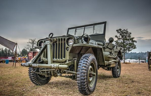 "Photo wallpaper army, high, ""Willis-MV"", Jeep, car, patency, Willys MB"