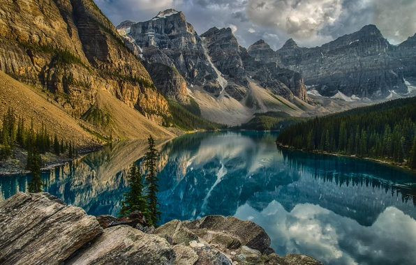 Picture mountains, nature, lake, Park, Canada