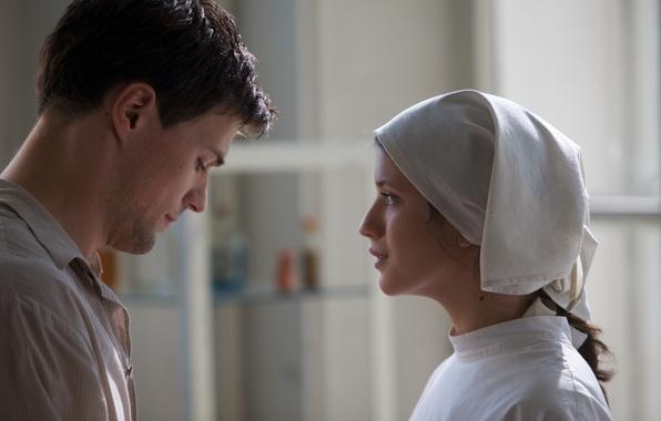 Picture look, love, movie, the film, actress, actor, nurse, Spy, Danila Kozlovsky, Anna Chipovskaya