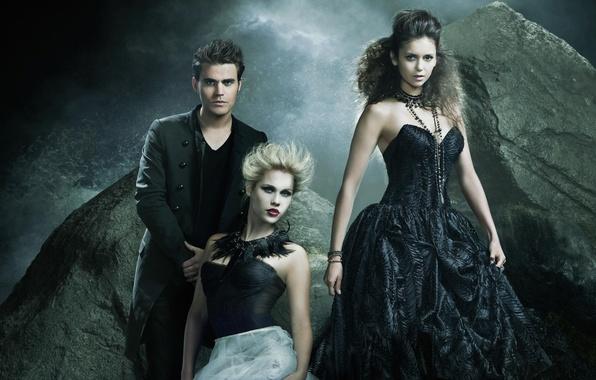 Picture Nina Dobrev, Nina Dobrev, The Vampire Diaries, The vampire diaries, Paul Wesley, Paul Wesley, Elena …