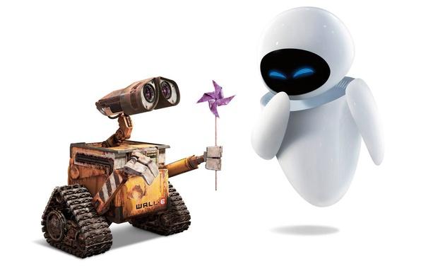 Picture love, fiction, cartoon, robot, Eva, valley, WALL-E
