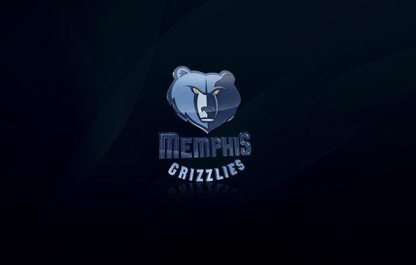Picture Blue, Basketball, Background, Logo, NBA, Memphis Grizzlies, Grizzly