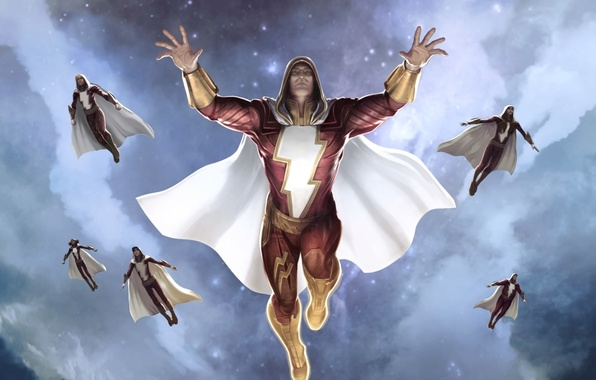 Photo Wallpaper Dc Comics Cloak Art Superhero Captain Marvel Billy Batson