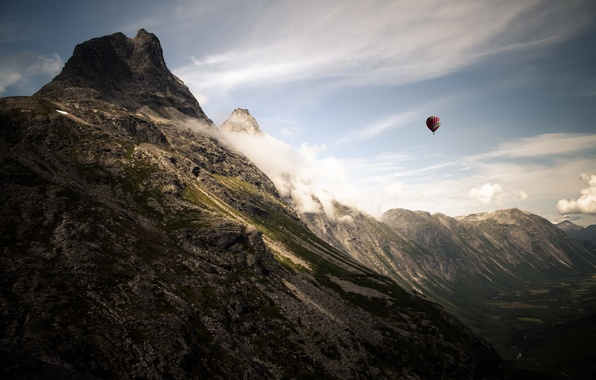 Picture the sky, landscape, mountains, sport, ball