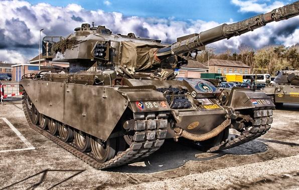 Picture tower, hdr, tank, gun, armor, caterpillar, tank