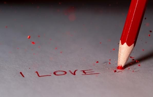 Picture macro, pencil, Broken Love