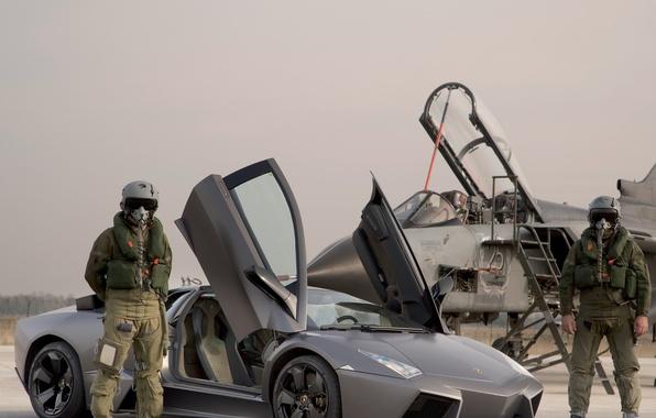 Picture auto, fighter, costume, pilot, reventon, lamborghini, jet, Panavia Tornado