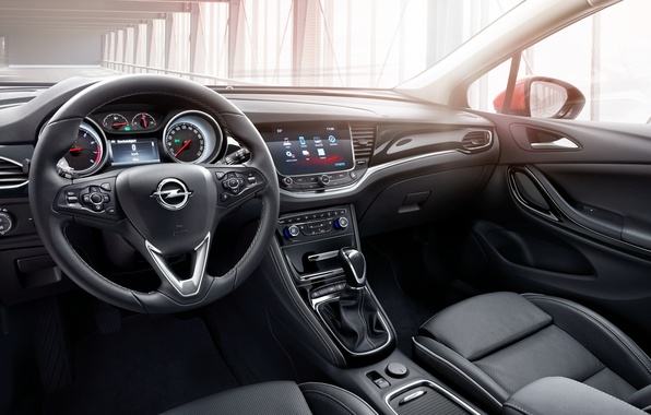 Picture interior, the wheel, Opel, Astra, salon, torpedo, Opel, dashboard, Astra, 2015