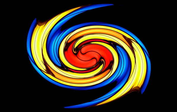 Picture fire, color, spiral