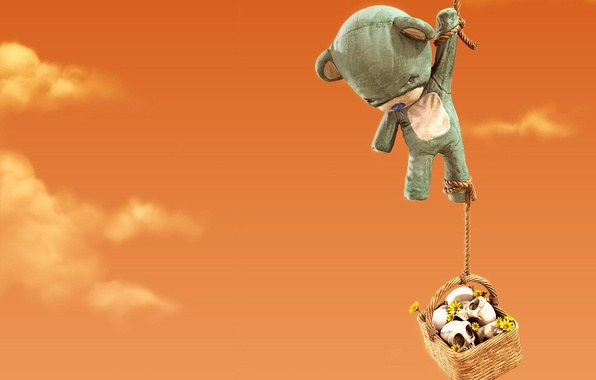 Picture toy, rope, bear, 153