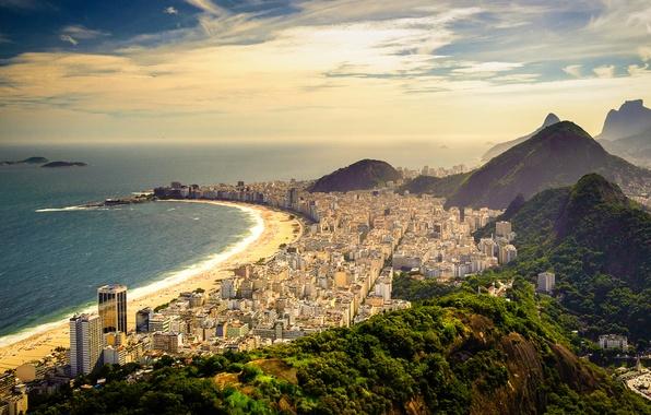 Picture beach, coast, beach, Brazil, Brazil, Brasil, Rio de Janeiro, Rio, Copacabana Beach, Copacabana