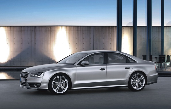 Picture Audi, Audi, Machine, Grey, Sedan, Car, Side view