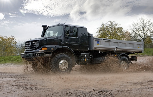 Picture machine, dirt, truck, zetros