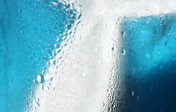 Picture glass, blue, Drops