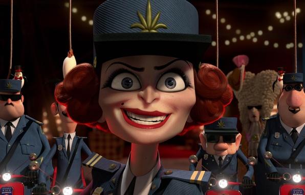 Picture cartoon, cartoon, Madagascar 3, captain chantel Dubois, captain chantel dubois