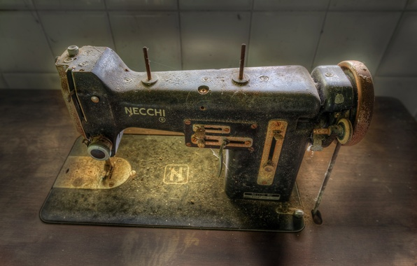 Picture macro, background, sewing machine