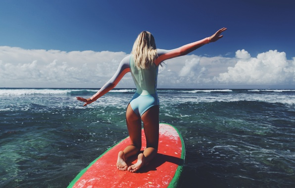 Picture sea, ass, girl, surfing, Board, Alexis Ren