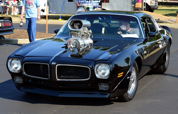 Picture muscle car, Trans Am, 1975 Pontiac Firebird