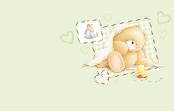 Picture mood, toy, art, bear, baby, children's, Forever Friends Deckchair bear