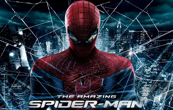Photo wallpaper the amazing spider-man, the amazing spider man, city, web