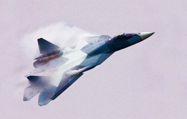 Picture Figure, The plane, fighter, Russia, T-50, Aviation, BBC, multipurpose, Dry, PAK FA, Flies