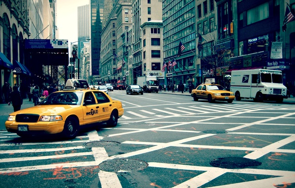 Picture the city, street, new york