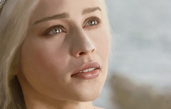 Picture look, face, Game of Thrones, Emilia Clarke, Daenerys Targaryen, Emilia Clarke