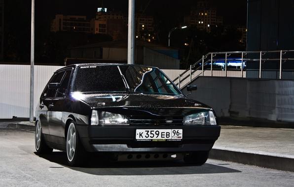 Picture black, nine, 2109, VAZ, hatchback, 2109
