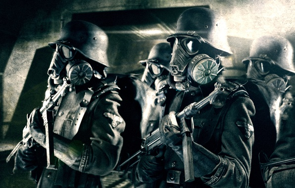 Picture Mask, Pearls, Uniform, MP 40, Nazi, Iron sky, SS troopers