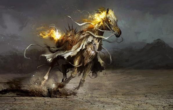 Picture horse, art, plague, Daniel Kamarudin