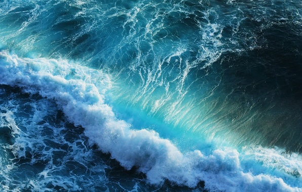Picture sea, foam, wave, surf