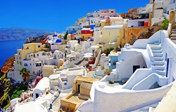 Picture sea, nature, home, Santorini, Greece, Santorini, Oia, Greece