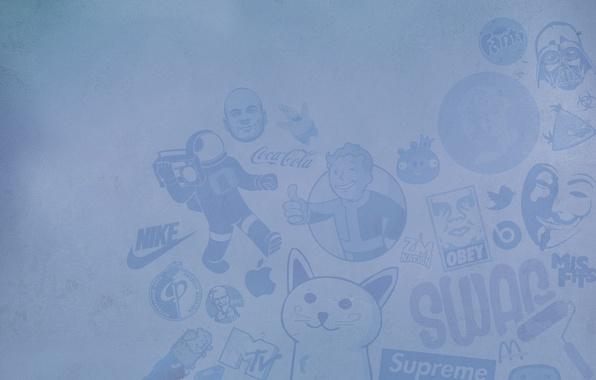 Picture superman, fallout, nike, brand, obey, mcdonalds, supreme