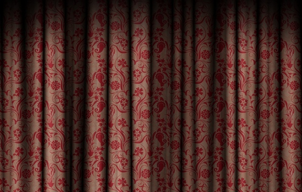 Picture flowers, patterns, texture, texture, curtain, the curtain