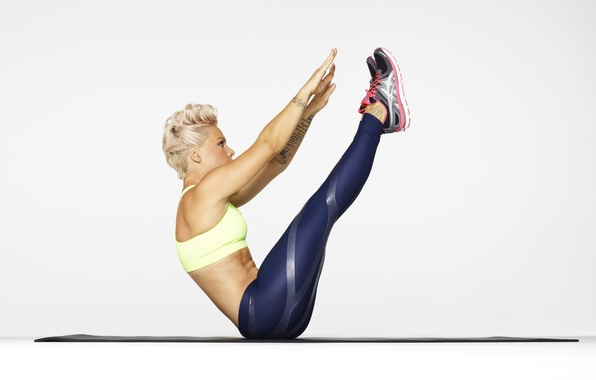 Picture Pink, singer, exercise, Pink