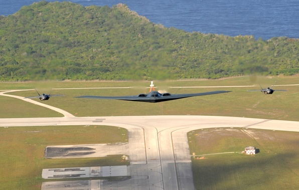 Picture aviation, Wallpaper, fighters, bomber, the plane, b-2, invisible, the rise, military, strategic, northrop, runway, unobtrusive, …