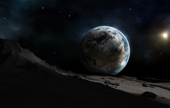 Picture space, fantasy, planet