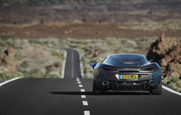 Picture road, McLaren, car, rear view, McLaren, 570GT