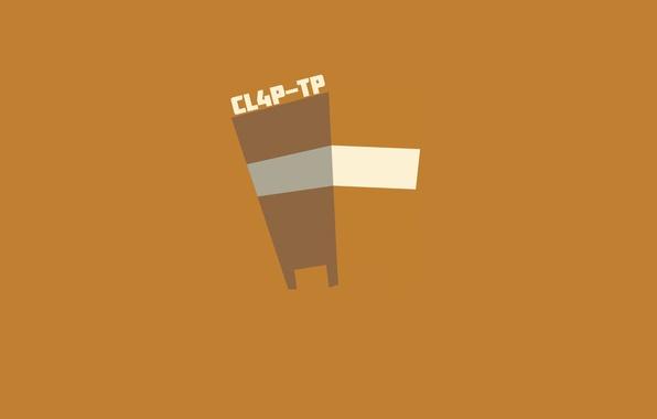 Picture robot, orange, Borderlands, CL4P-TP