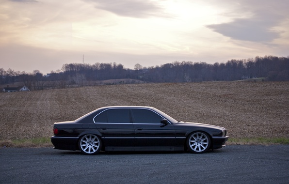 Picture Field, Black, BMW, Boomer, BMW, 740, Black, Side, E38, Bimmer