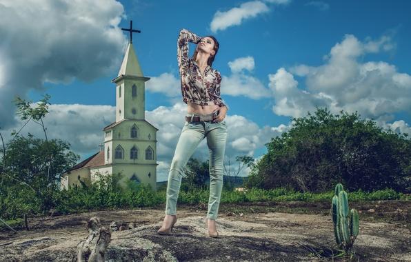 Picture jeans, Church, Tan S Gargantin