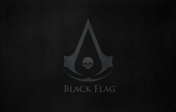 Picture black, flag, Creed, Assassins