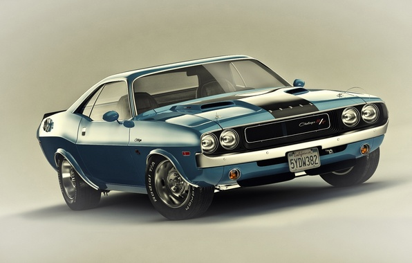 Picture Muscle, Dodge, Challenger, Car, 1970, R/T