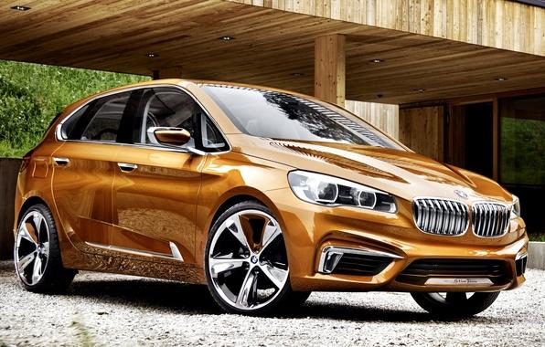 Picture Concept, BMW, The concept, Orange, Car, New, Active, BMW, Tourer, Outdoor