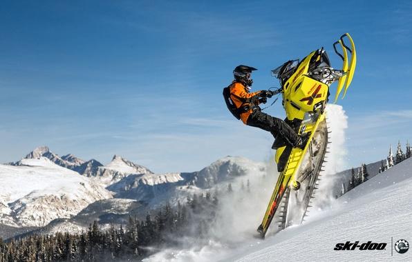 ski doo wallpaper  Wallpaper Mountain, Yellow, Summit, Snowmobile, Snowmobile, Buck ...