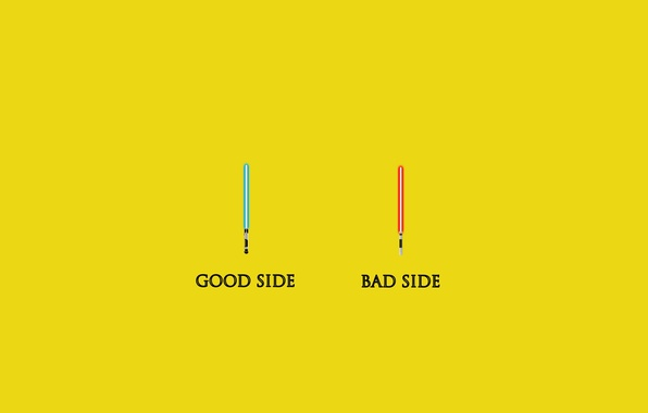 Picture style, weapons, minimalism, star wars, minimalism, style, Jedi, star wars, lightsabers, good, bad, good, bad, …