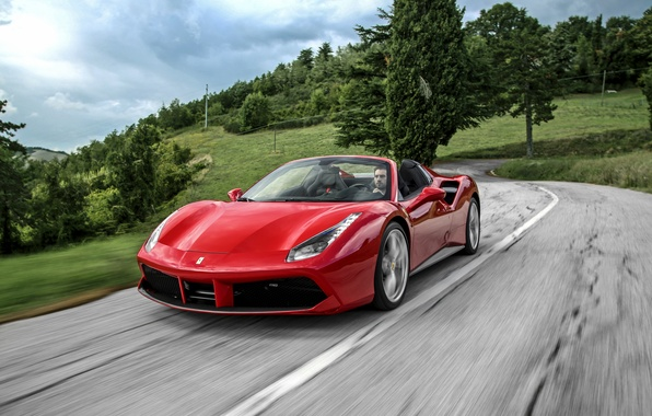 Picture Ferrari, convertible, Ferrari, Spider, 488