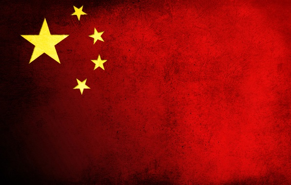 Picture stars, red, China, flag, dirt, China