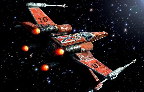 Picture Star Wars, Art, Starfighter, X-Wing